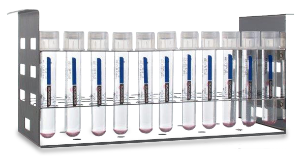 DuraClone dry flow cytometry reagents in rack