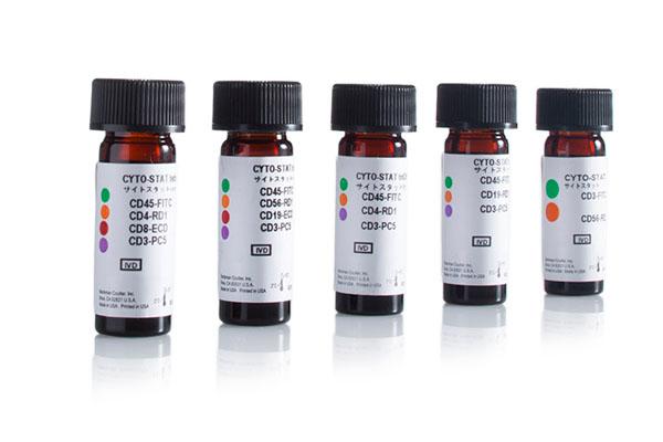 tetraCHROME CD45-FITC/CD4-PE/CD8-ECD/CD3-PC5 Antibody Cocktail, 50 Tests, CE, IVD 6607013