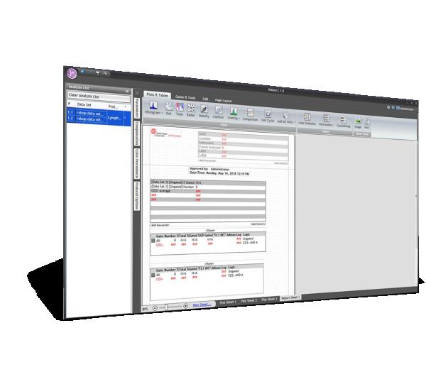 Kaluza C Analysis Software Reporting