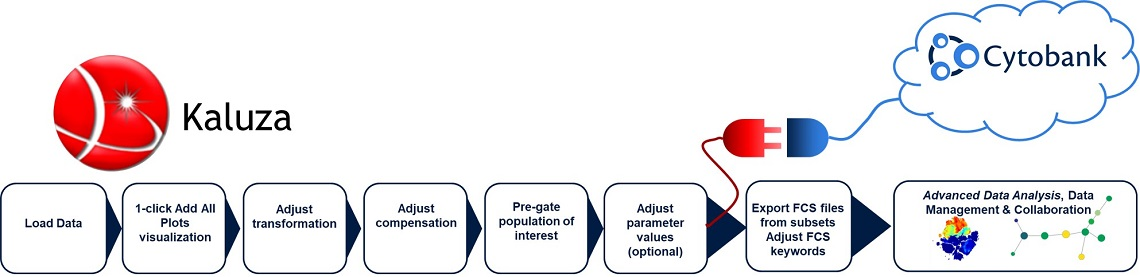 Detailed overview of the advanced analysis of flow cytometry data including pre-analysis steps