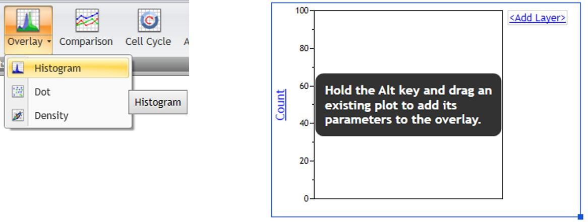 Kaluza overlay plot setup controls