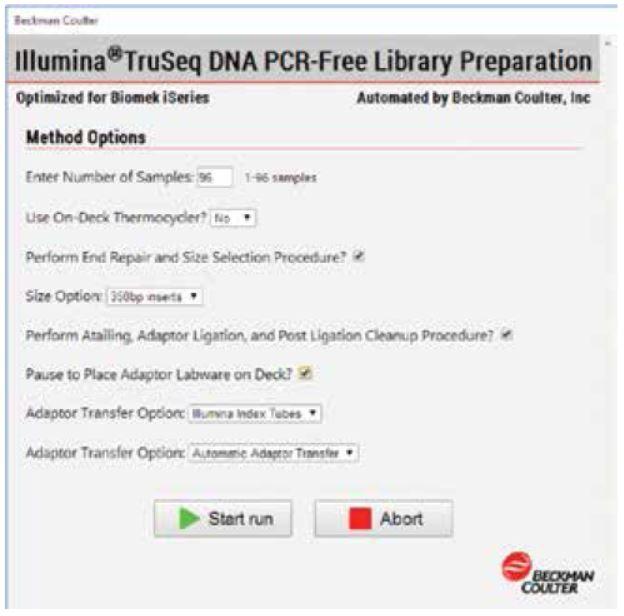 Genomics Workstation Method Options Selector Figure 4