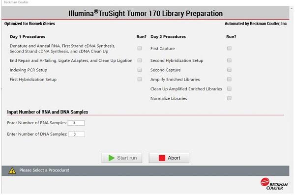 Figure 4: Demonstrated Method Interface consisting of Biomek Method Launcher dialog (A), Method Option Selector dialog (B), Guided Labware Setup dialog (C), and DeckOptix Final Check Verification (D).
