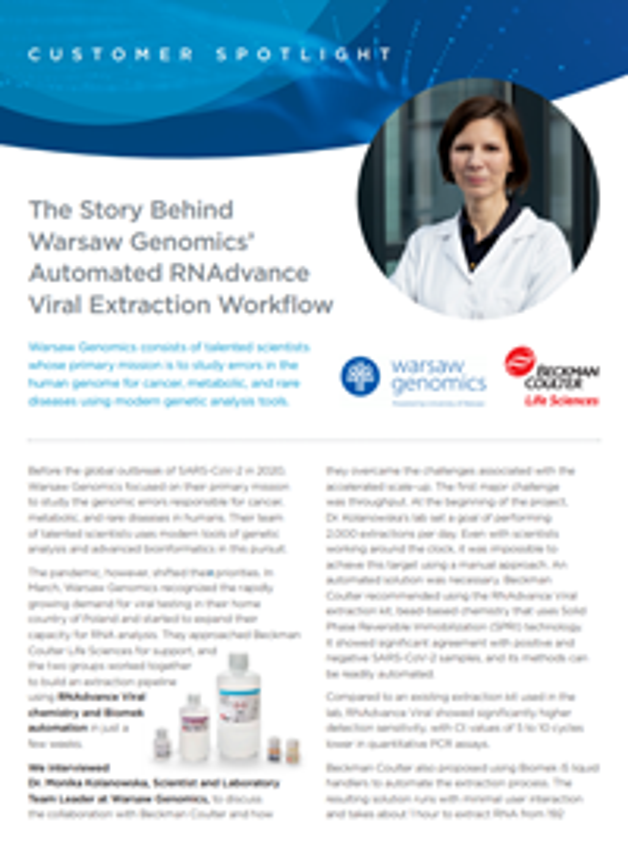Warsaw Genomics Testimonial