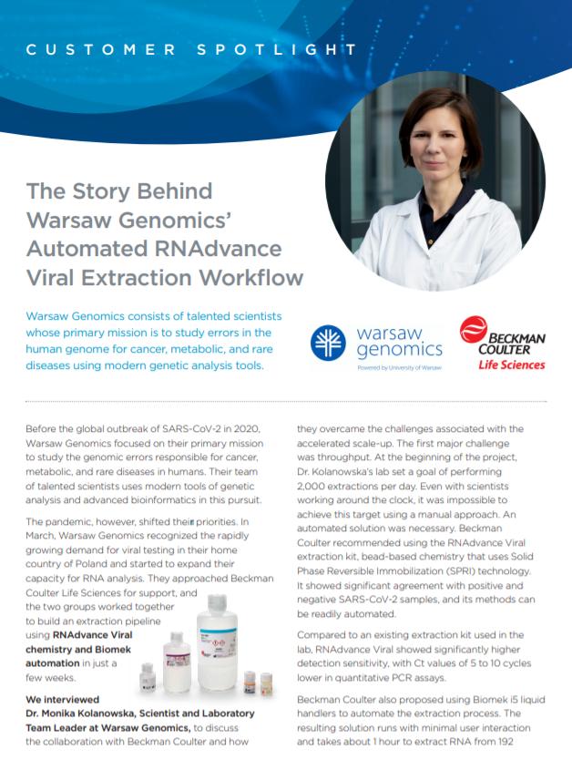 Warsaw Genomic 公司证言