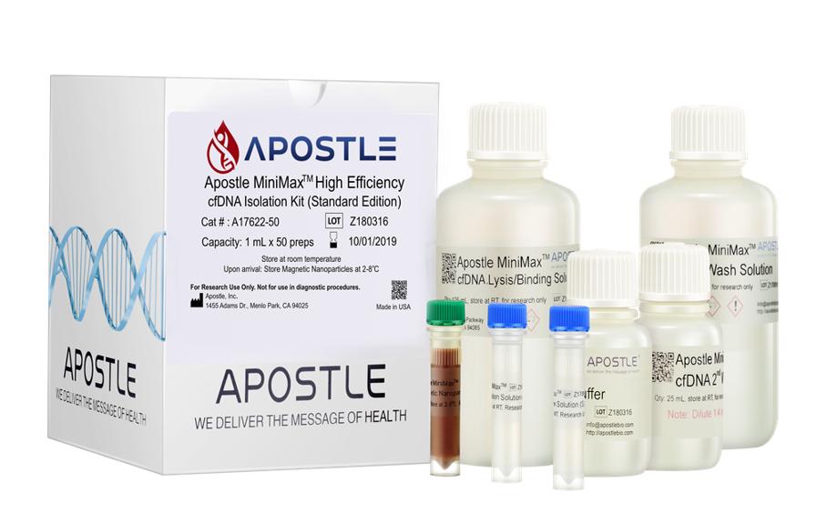 Cell-Free DNA Isolation from Plasma Apostle MiniMax Reagent Kit