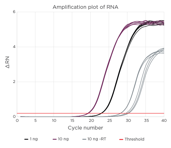 RNAdvance Amplification Plot of RNA