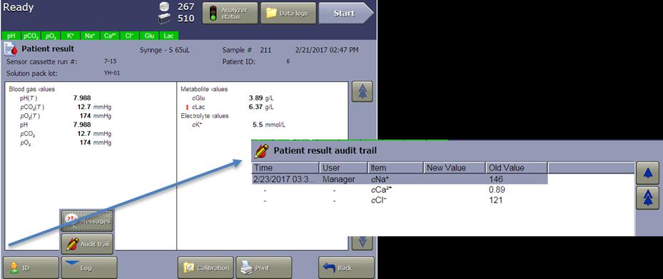 vi-cell metaflex software audit Trail for each result file 21 cfr part 11 compliance
