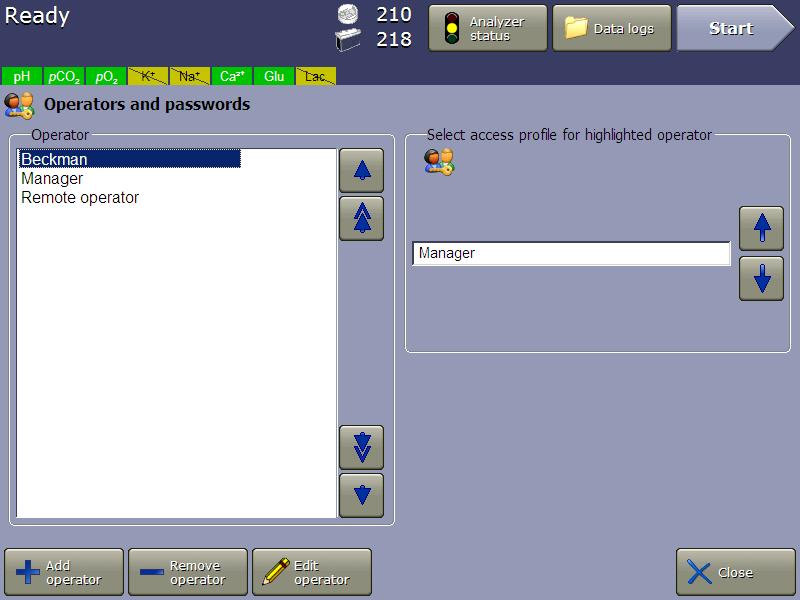 vi-cell metaflex software operators and passwords settings 21 cfr part 11 compliance