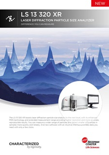 ls 13 320 xr laser diffraction brochure