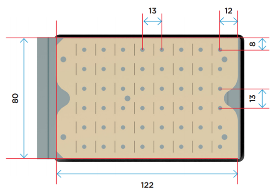 Top View Dimensions for Automation