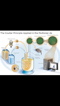 Diagram of the Coulter Principle technology