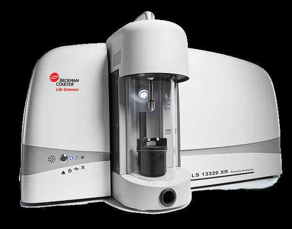 Vista completa del analizador de tamaño de partículas por difracción láser LS 13 320 XR