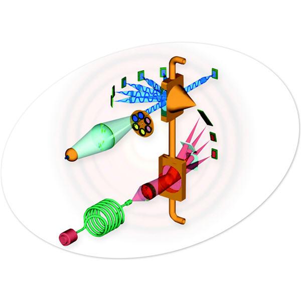 ilustración de difracción láser