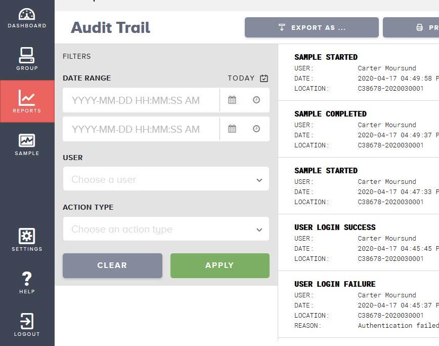 met one 3400+ audit trail