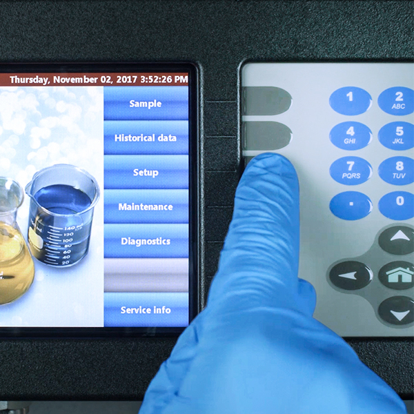 Particle Lab Liquid Counter HIAC 8011 software buttons