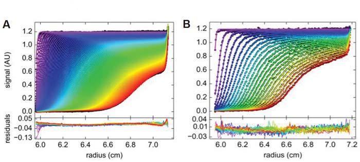 Данные, полученные при седиментации БСА в течение 3 часов при различной скорости
