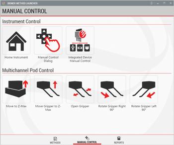 Через интерфейс BML можно перейти в режим ручного управления