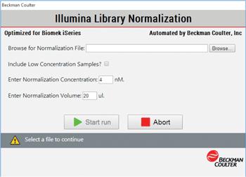 Интерфейс метода нормализации
